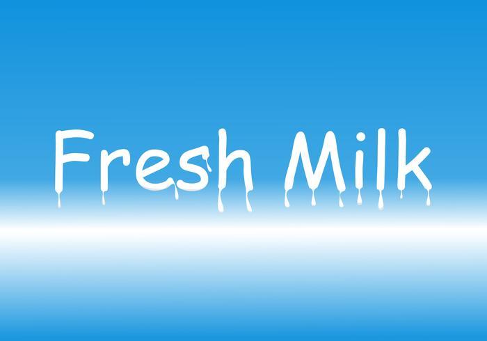 White text background Fresh milk illustration vector design.