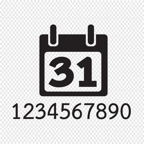 Icono de calendario símbolo de signo vector