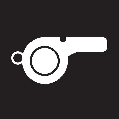 Fluitje pictogram symbool teken