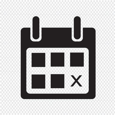 icono de calendario símbolo signo vector