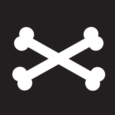Sinal de símbolo de ícone de osso