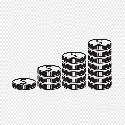 Icono de signo de símbolo de dinero vector