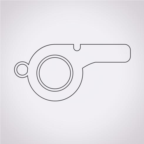 Icono de silbato signo de símbolo vector