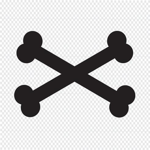 Icono de signo de hueso signo vector