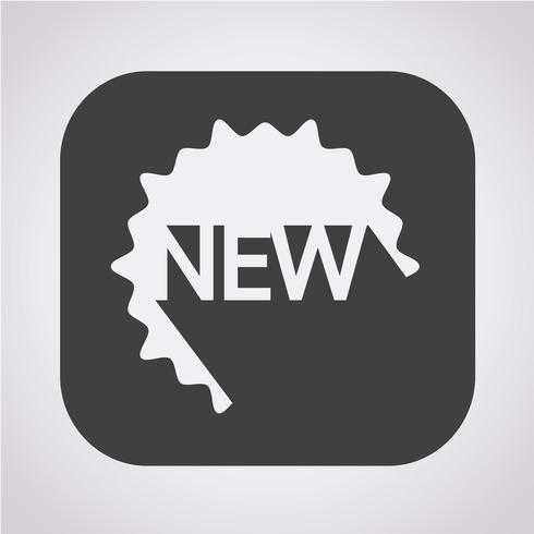Ny ikon symbol tecken
