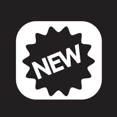 Nuevo icono símbolo de signo vector