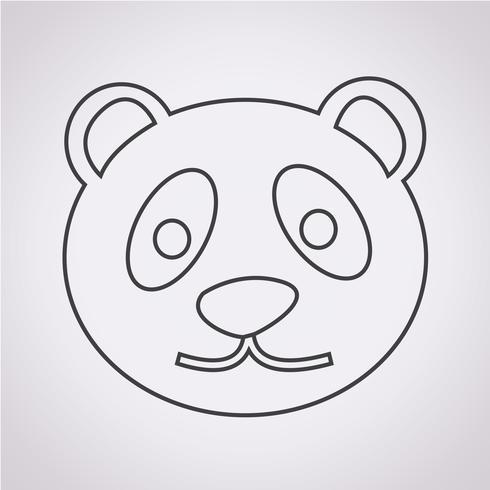 icono de panda símbolo de signo vector