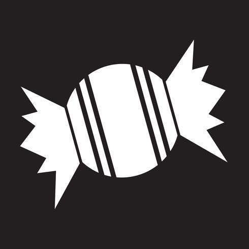 sinal de símbolo de ícone de doces