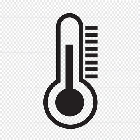 thermometer pictogram symbool teken