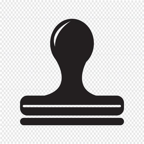 Sello icono símbolo signo vector