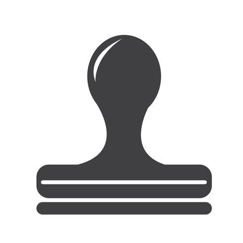 Stempel pictogram symbool teken