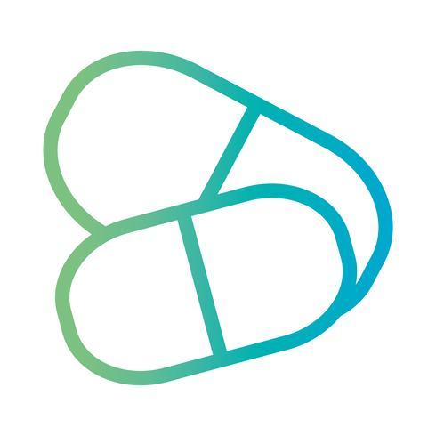 Linie medizinische Pille pharmazeutische Behandlung