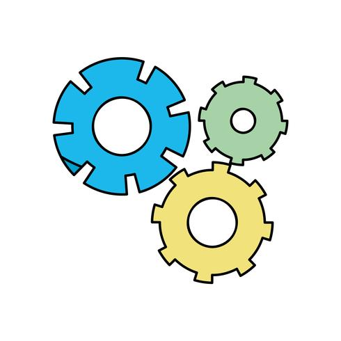 proceso de ingeniería de la industria del engranaje de color