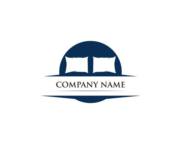 Cama logo vector plantilla ilustrador