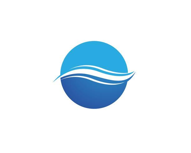 Símbolo de la ola de agua e icono de logotipos vector