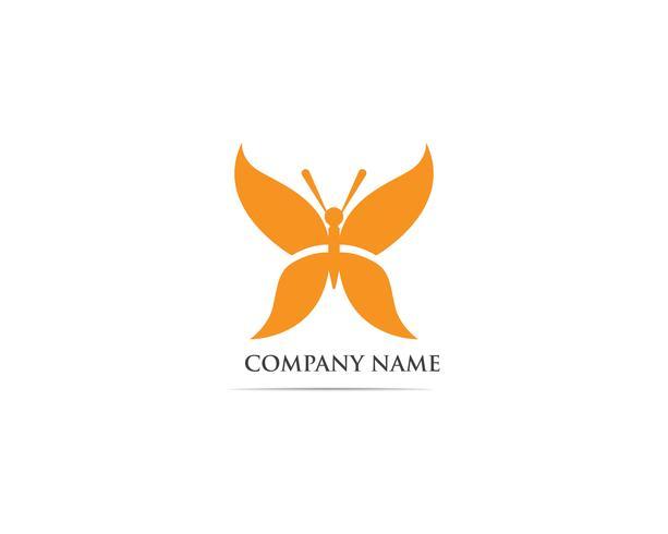 Buttterfly logo vector plantilla animal