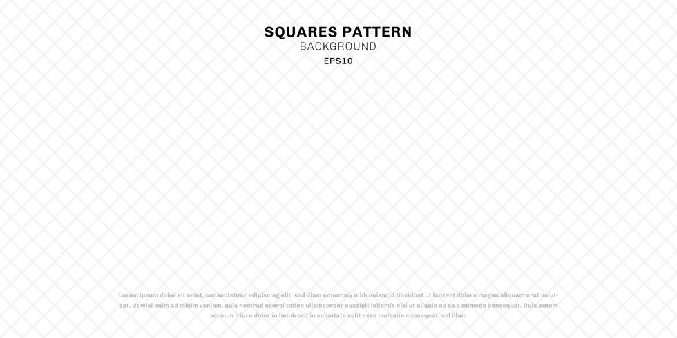 Abstrakt geometriska vita sömlösa rutor mönster bakgrund och textur. vektor