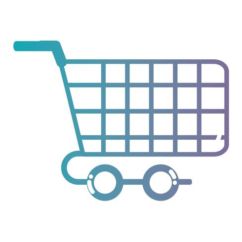 línea de compras símbolo de coche para comprar en línea vector