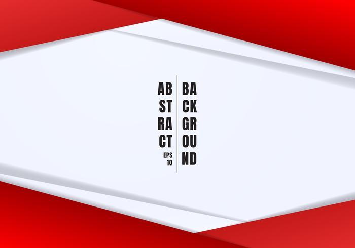 Abstracte sjabloon koptekst en voetteksten rode en grijze geometrische driehoeken contrast witte achtergrond met kopie ruimte. U kunt gebruiken voor corporate design, cover brochure, boek, banner web, reclame, poster, folder, flyer.