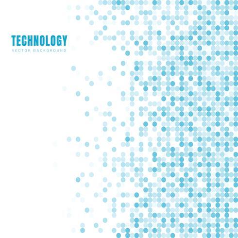 Abstracte geometrische witte en blauwe ovaal of cirkelspatroonachtergrond en textuur met exemplaarruimte. Technologie stijl. Mozaïek raster.