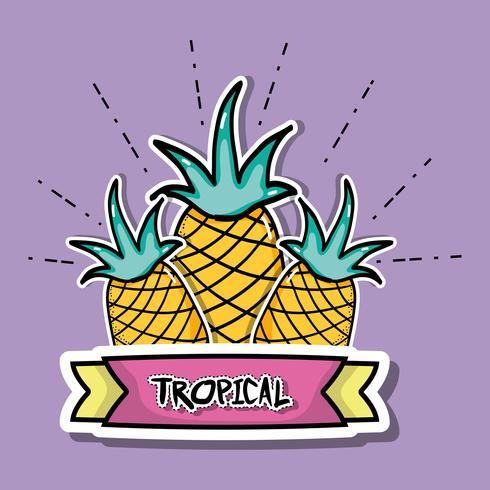piñas tropicales parches fruta diseño