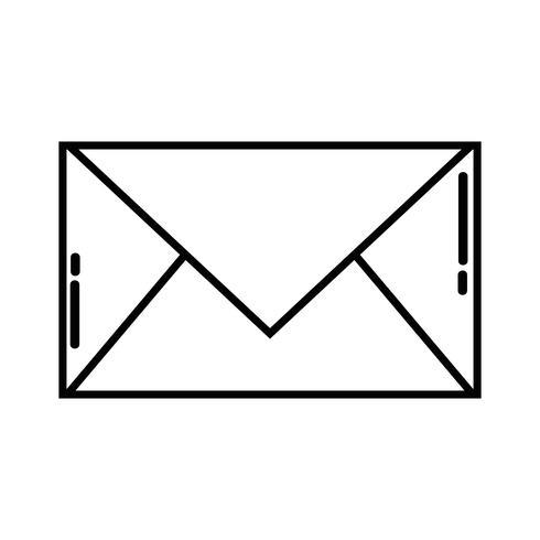 línea carta carta cerrada con información del mensaje vector