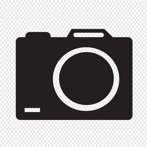 sinal de símbolo de ícone de câmera