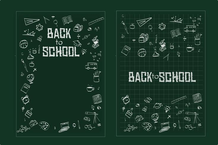 Back to school, Education concept background with line art icons and symbols