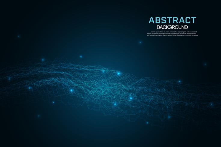 Abstract glowing grid background. Technology and internet concept background. vector