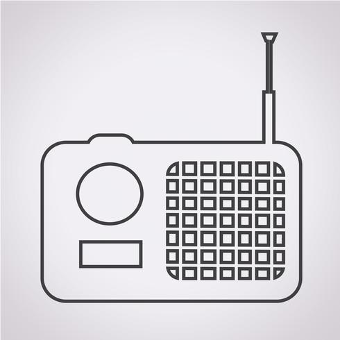 icono de radio símbolo de signo vector