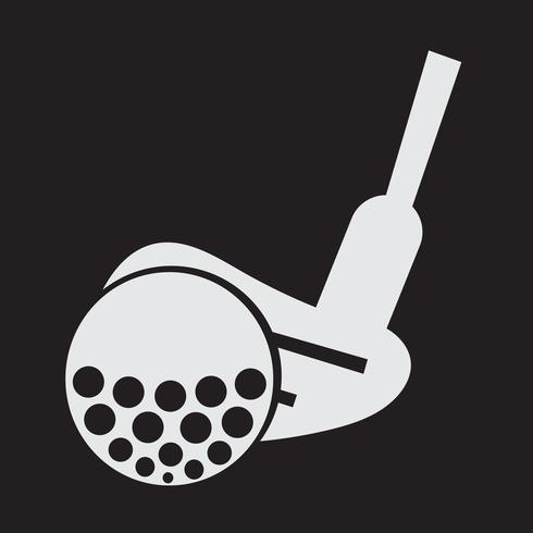 Símbolo de icono de golf signo vector