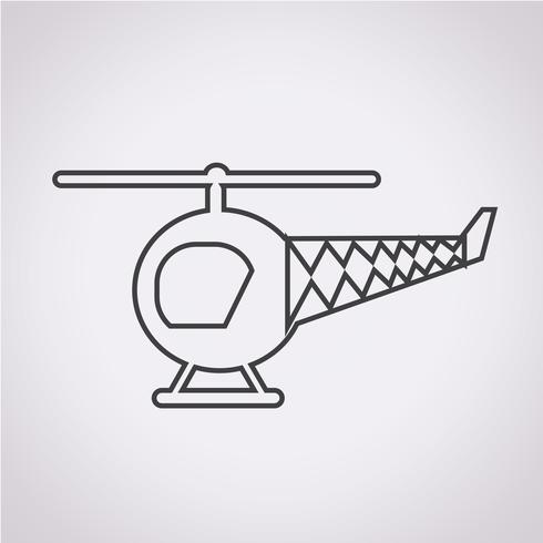 Helicopter Icon  symbol sign