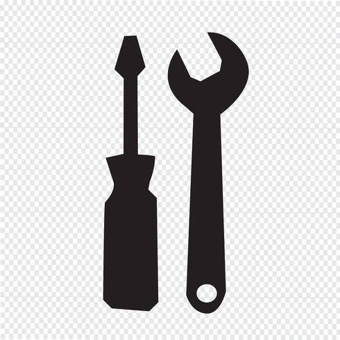 Sinal de símbolo de ícone de ferramentas