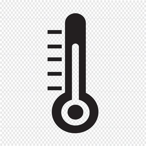 Icono de termómetro símbolo signo vector