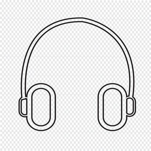 icono de auriculares símbolo de signo