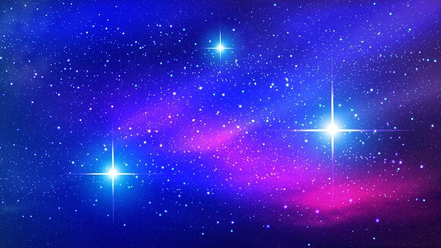 Nebulosa de colores en el fondo del espacio. Ilustracion vectorial