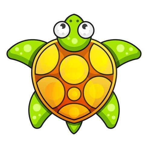 Icono De Tortuga. Ilustración vectorial sobre fondo blanco