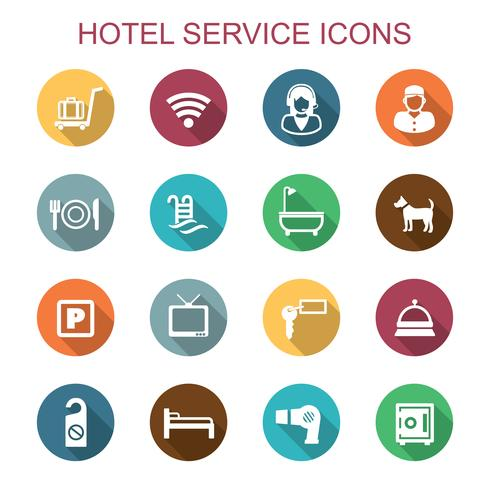 hotel service icons vector