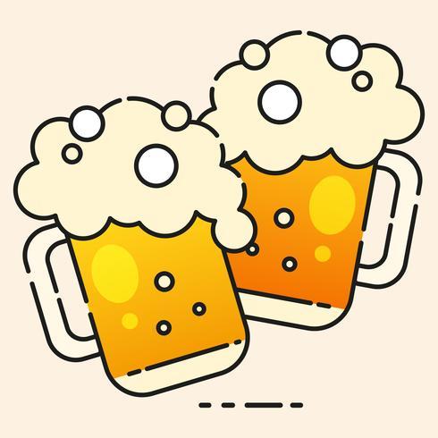 Icono de cerveza fría listo para su diseño, tarjeta de felicitación, bandera. Ilustracion vectorial vector