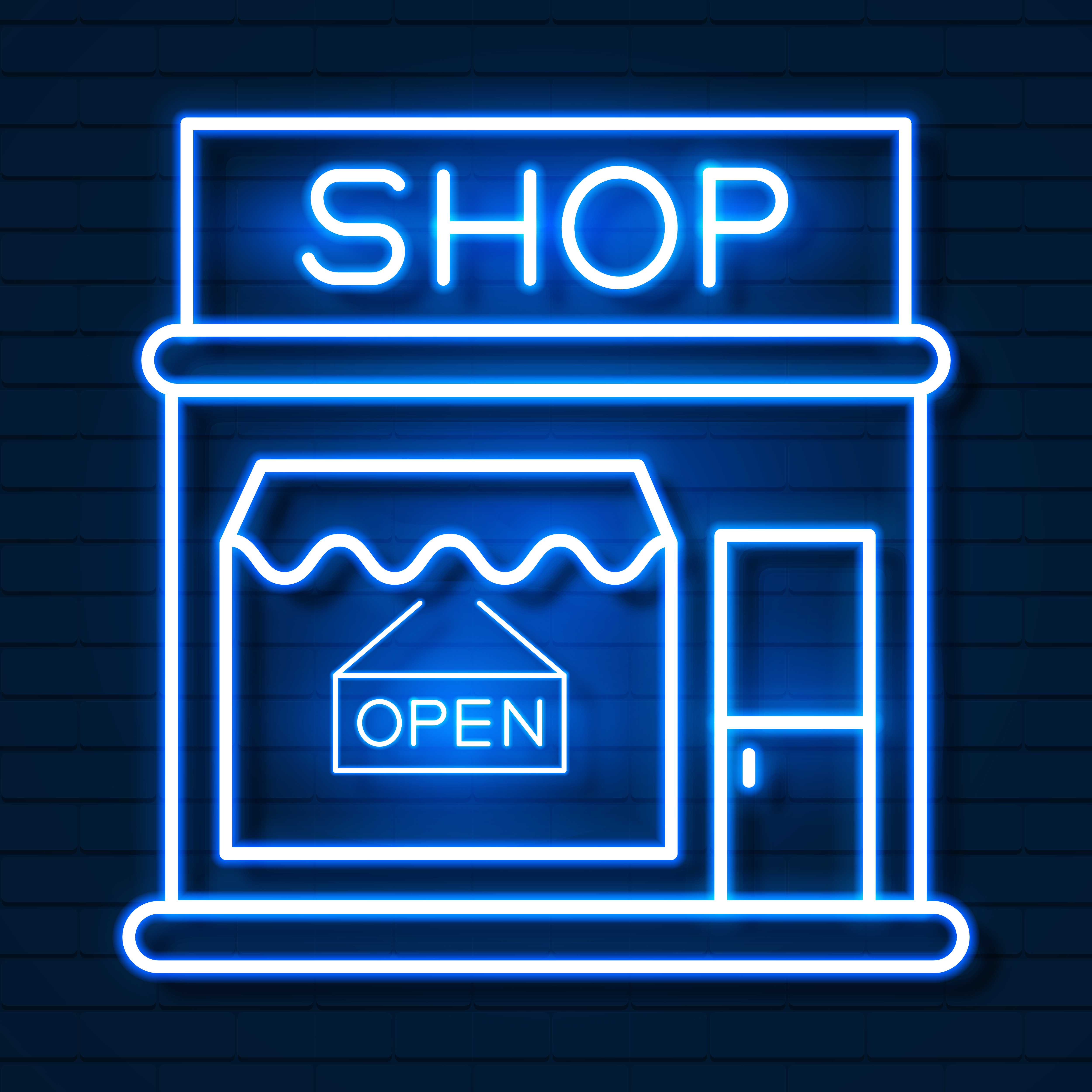 Shop now banner design Royalty Free Vector Image