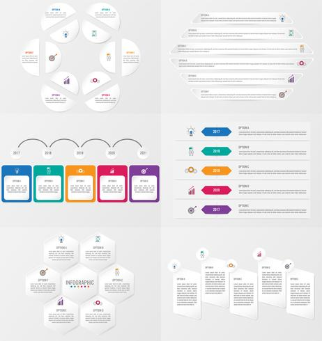 Set of infographics element template with options. vector