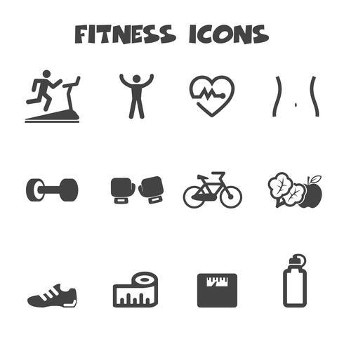 fitness ikoner symbol vektor