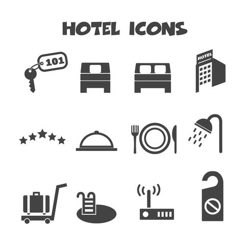 símbolo de los iconos del hotel