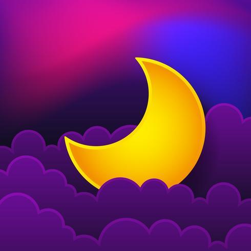 Logotipo do conceito de noite. Boa noite. Ilustração vetorial