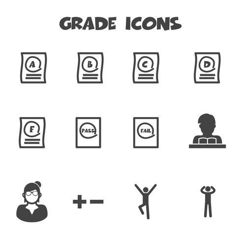 grade icons symbol vector