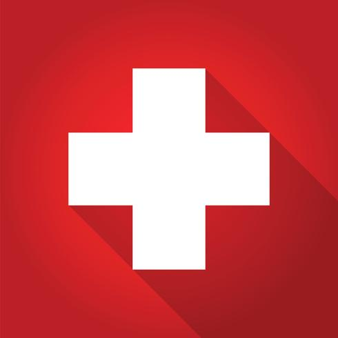 first aid long shadow icon