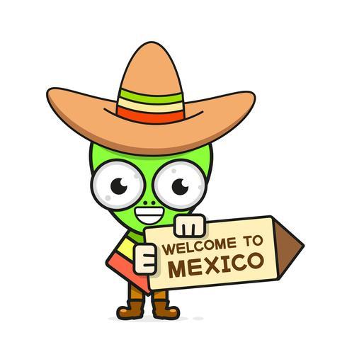 Ejemplo mexicano del vector del cráneo de la historieta para Dia De Los Muertos. Cráneo masculino lindo
