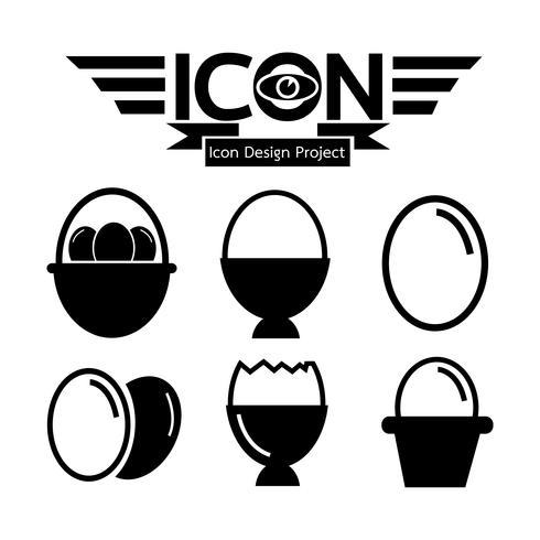 Segno di simbolo dell'icona dell'uovo
