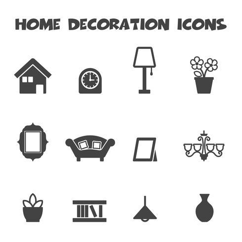 iconos de decoración del hogar vector