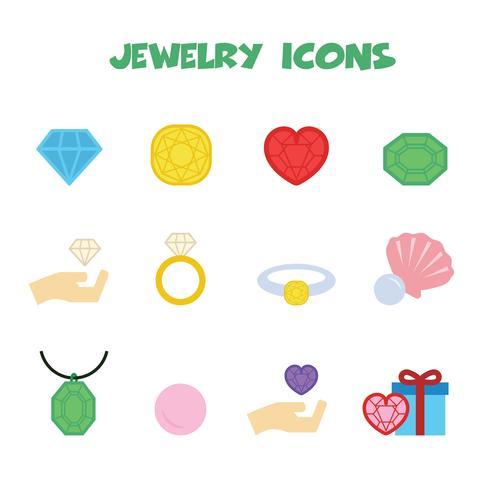 símbolo de ícones de jóias vetor